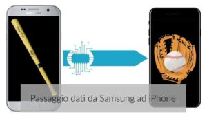 Come passare i dati dal Samsung all'iPhone